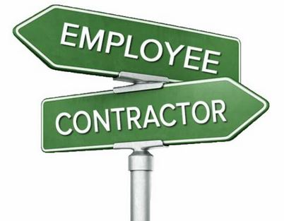 Employee or Contractor Sign